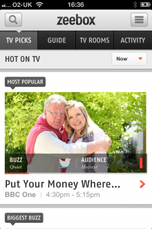 a1 220x330 Zeebox for iOS gets new TV Rooms feature, letting users discuss their favorite shows in public or private