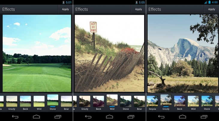 aviary woodland filter 730x404 Aviary updates its Photo Editor for Android with better photo tools, filters, stickers and more