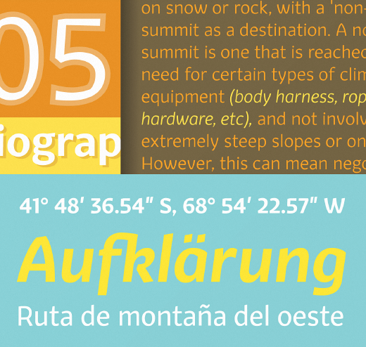 fair sans text The 24 most beautiful typefaces released last month