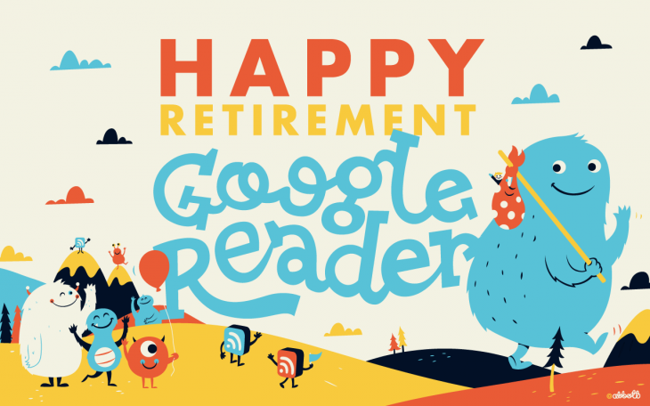happy retirement gr 730x456 Passing 12M users, Feedly launches cloud platform and Web version with one click migration from Google Reader