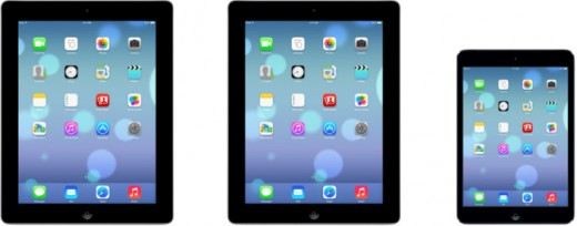 ios 7 ipad mini1 520x204 Following iPhone, Apple brings iOS 7 support to its iPad line, provided that you are a developer