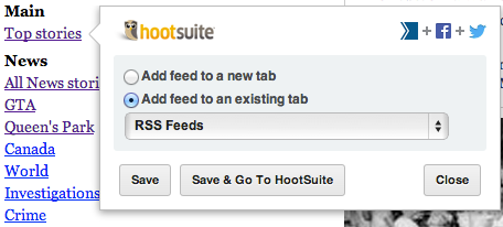 thestar cropped HootSuite Syndicator: Yet another new RSS app, but with a special twist for social media marketers