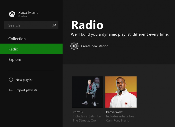 xbox music preview 730x531 Microsoft readies new Xbox Music app for Windows 8.1, introduces free, ad supported radio feature