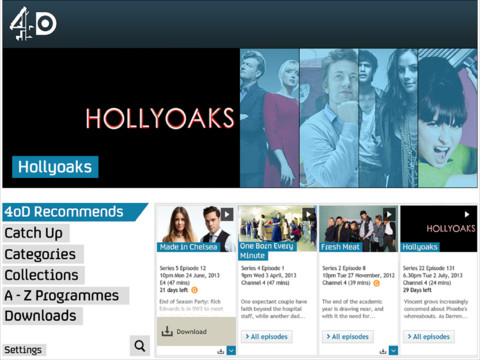 4odipad The UKs Channel 4 updates its 4OD app on Android and iOS with downloads for offline playback