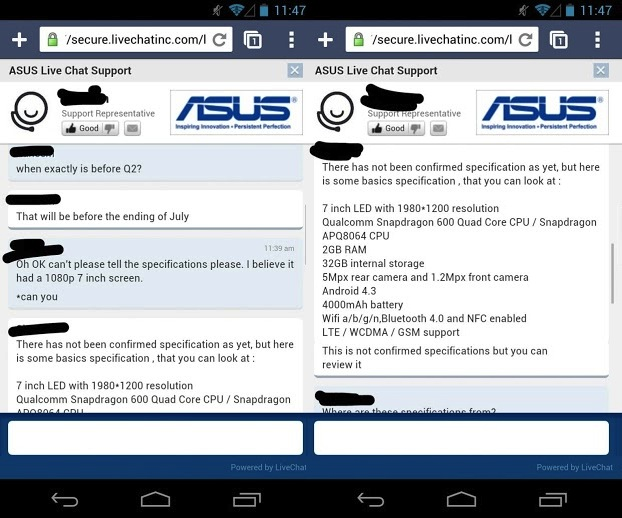 Nexus Screenshot 11 Second generation Nexus 7 will launch in July, says an ASUS staffer who also leaked the specs