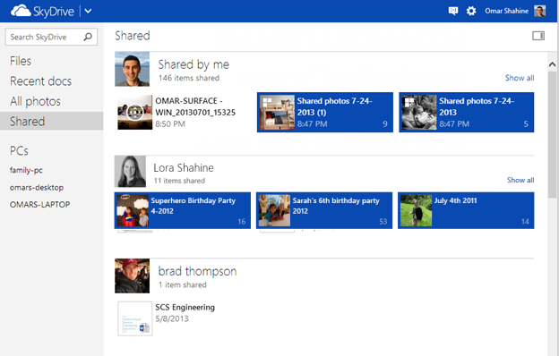 SkyDrive Shared view 3EADE69B Microsoft updates SkyDrive.com with enhanced file sharing and support for animated GIFs
