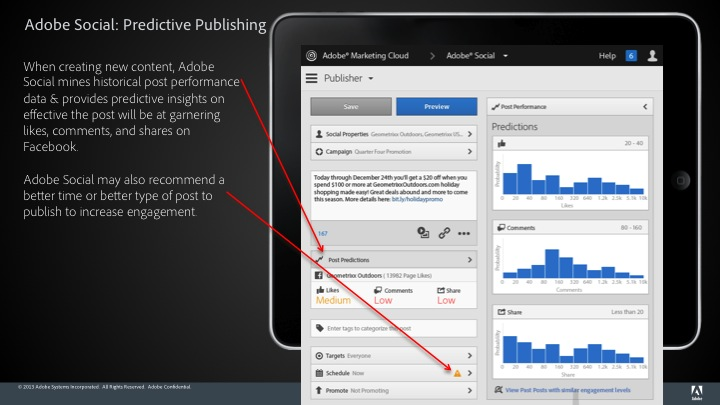 Slide13 Adobe Social update brings predictive publishing and integration with Foursquare, Instagram and LinkedIn