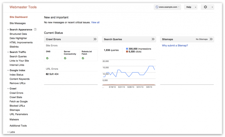 WMT updated nav 730x446 Google rolls out new navigation for Webmaster Tools based on the four stages of search