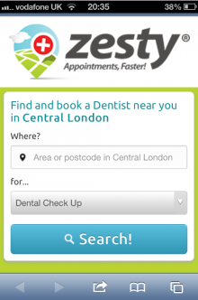 Zesty Mobile 220x332 Zesty: the dental startup with denture capital and an eye firmly on UK healthcare