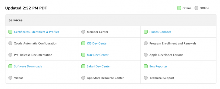 apple devcenter 730x296 Apples Developer Center returns after 8 day outage due to security breach