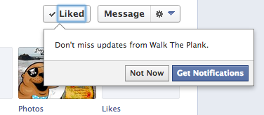 facebook notifications Facebook test prompted users to sign up for notifications on Pages they like [Update]