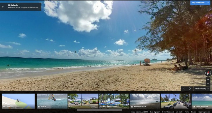maps photo sphere kailua 730x388 Google launches Views, a community site for contributing Androids photo spheres to Google Maps