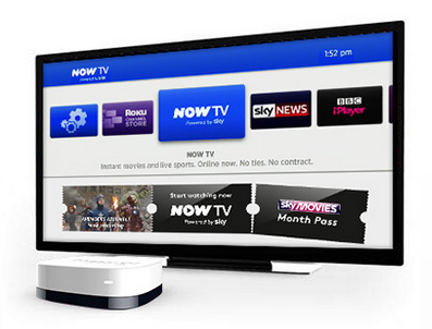 now tv British broadcaster BSkyB launches £9.99 Now TV set top box to make all TVs smart