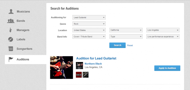 rightSearch 730x347 Music industry matchmakers Giggem introduces Auditions to help bands recruit new members