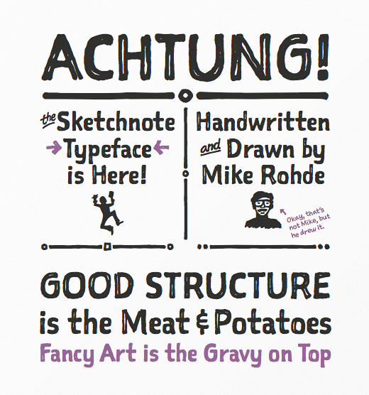 sketchnote 30 of the most beautiful typefaces released last month