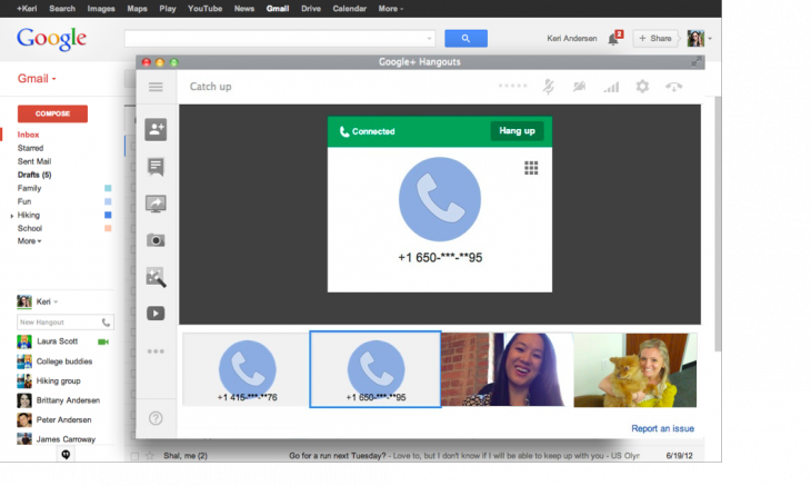 video call 2 730x437 Google brings calling back to Gmail with Hangouts and makes calls to US and Canada free