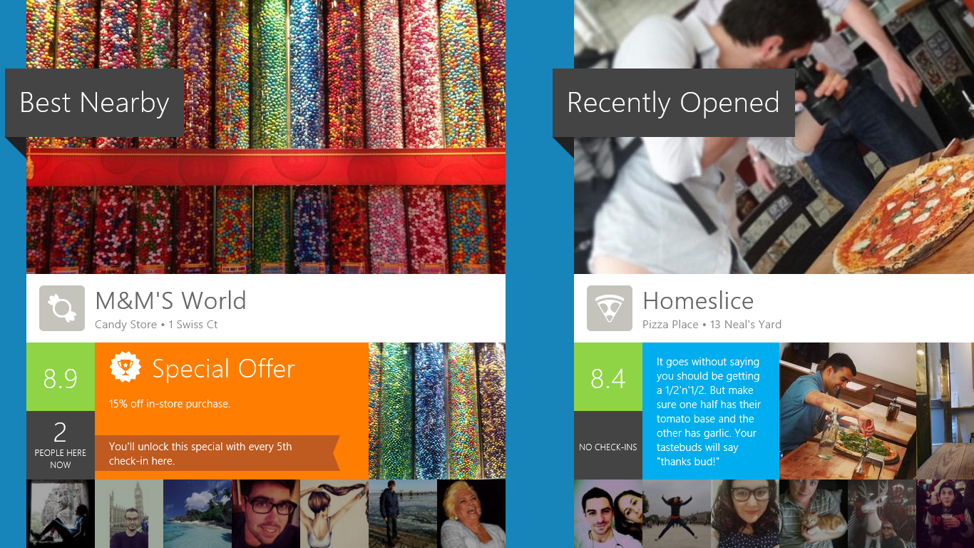 4q MMWorld Hands on with Foursquares gorgeous Windows 8 app: Shunning checkins for reviews and discovery