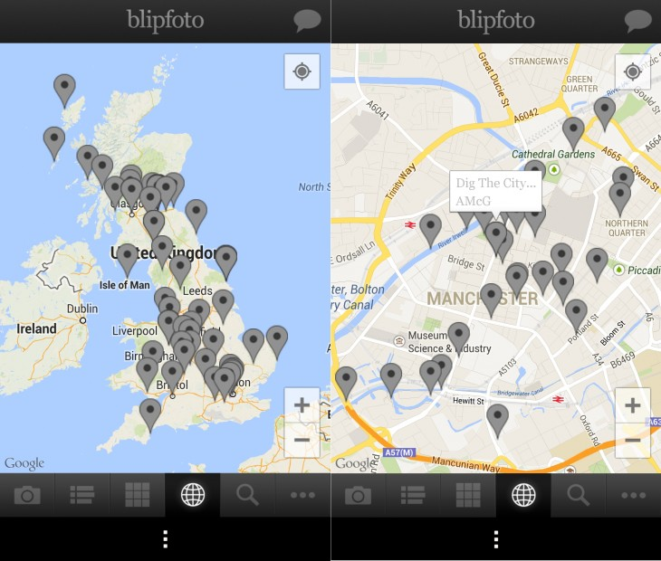 BlipfotoAndroidMaps 730x620 Blipfoto delivers an Android app for budding photo journal fans
