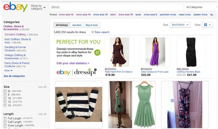 Dressipi 3 730x431 In the UK? You can trial eBays personalised fashion recommendations right now.