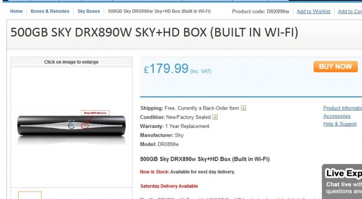 SkyHDBox 730x403 BSkyBs new WiFi enabled Sky+ HD box surfaces online, 500GB version shipping for £179.99