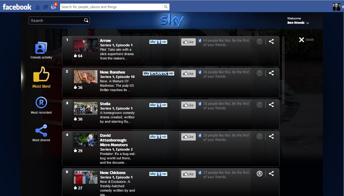 SkyShare liked Sky Share lets you set your Sky+ box to record directly from Facebook: Heres how it works