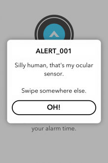c5 220x330 Carrot Alarm for iPhone: Whatever you do, dont hit the snooze button...