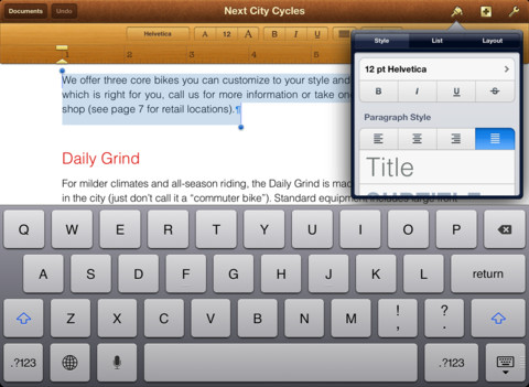pages ipad The 10 best writing apps on the iPad