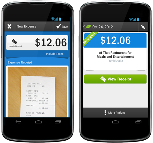receipt recouped FreshBooks expands its cloud accounting service to Android with launch of new app