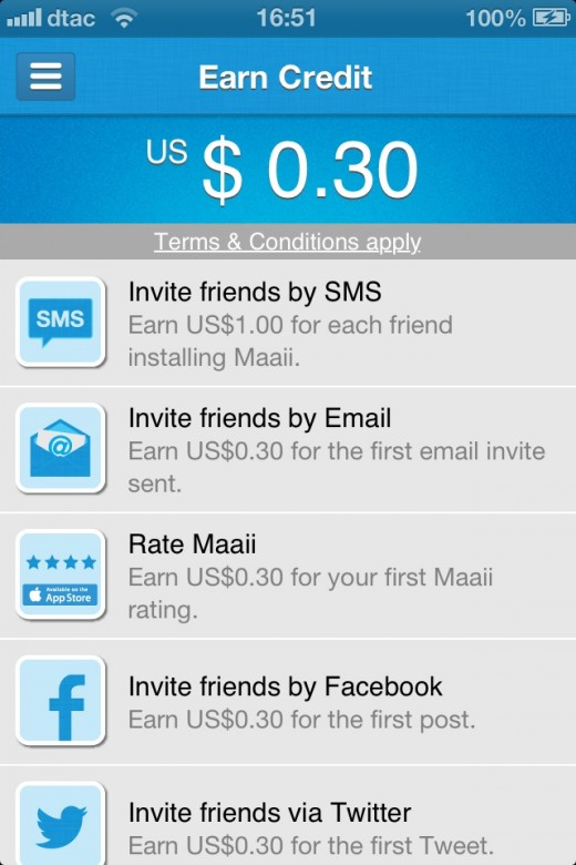 rewards 520x780 Maaii is a mobile messaging app that lets you earn and spend international calling credit