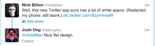 twitter conversation 520x155 Twitter rolling out new conversations UI for Web, iPhone and Android