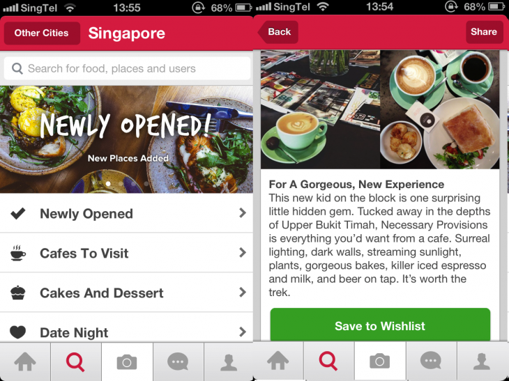 Burpple Screenshot 730x547 Foodie photo sharing app Burpple now includes Asian city food guides
