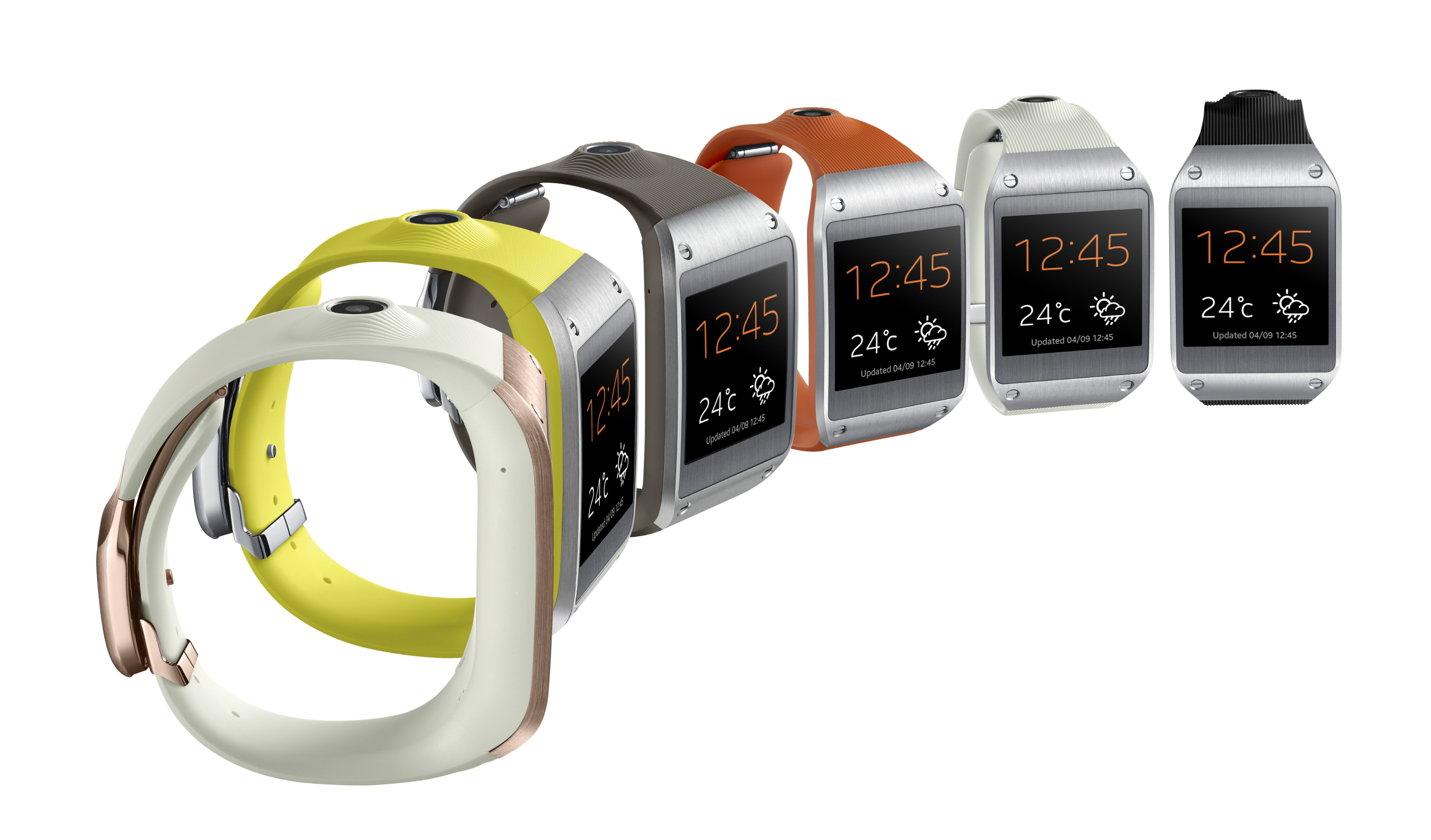 Galaxy Gear 008 Set1 Side Six Samsung announces Galaxy Gear smartwatch with voice control and a 1.9 megapixel camera