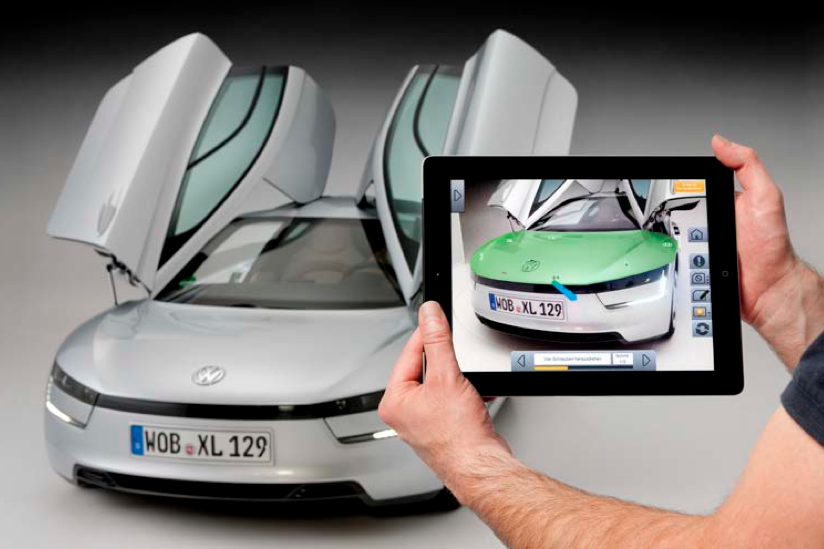 IMG Metaio VW MARTA VW outs augmented reality interface for technicians working on its XL1 concept car