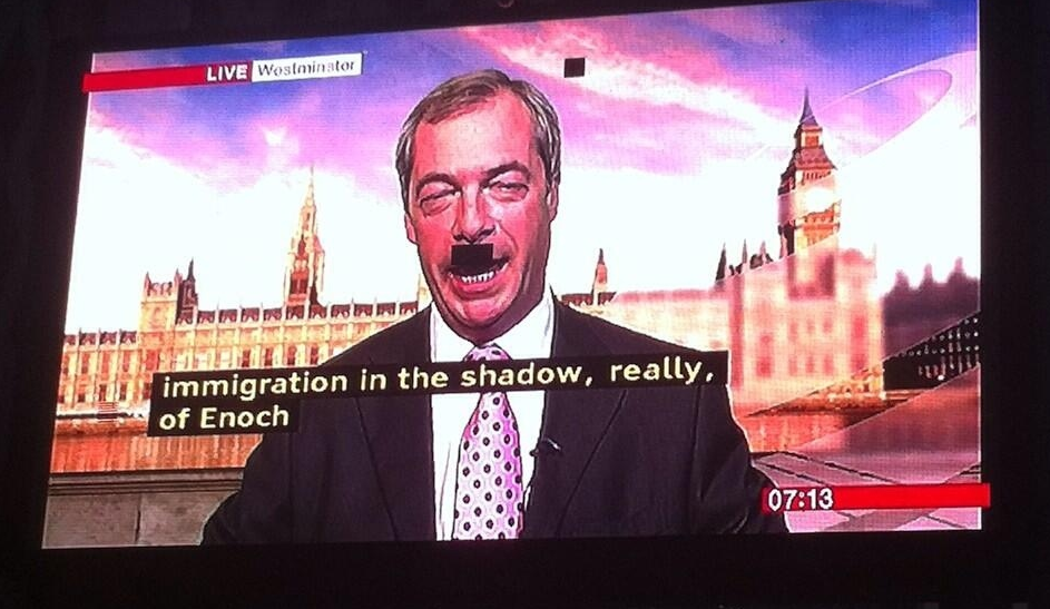 Screen Shot 2013 09 21 at 12.44.17 AM Unintentional comedy gold: Pixel fault gives politician a rather unfortunate moustache during interview.