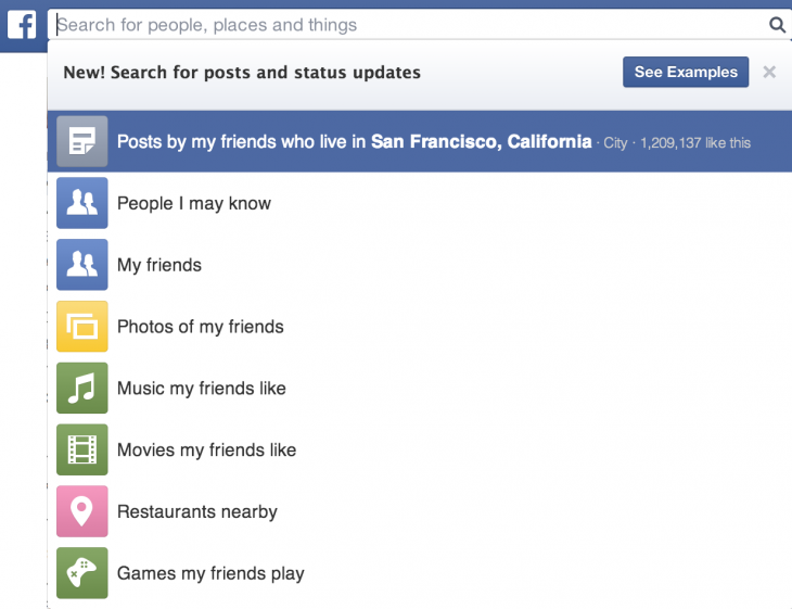 Search for posts and status updates1 730x561 Facebook rolling out Graph Search feature that helps you find posts and status updates