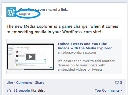 WPFB You can now embed Facebook posts on your hosted WordPress.com blog