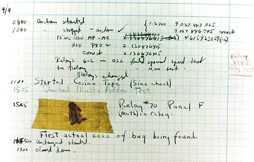 The very first recorded computer bug
