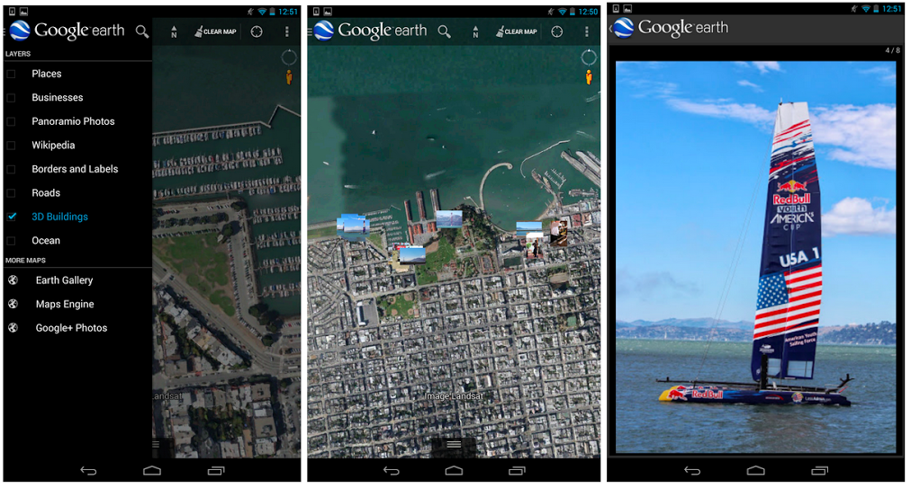 earth photos Google Earth for Android app now lets you rediscover all of your geotagged Google+ photos