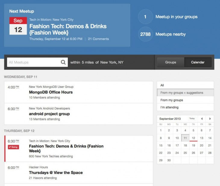 Meetup simplifies its member homepage as it builds a unified experience across mobile and the Web