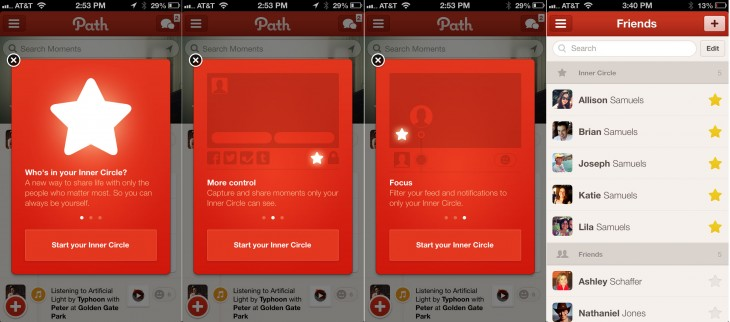 path innercircle 730x322 Path goes Pro: Introduces $14.99 premium subscription plan and new privacy controls to share moments