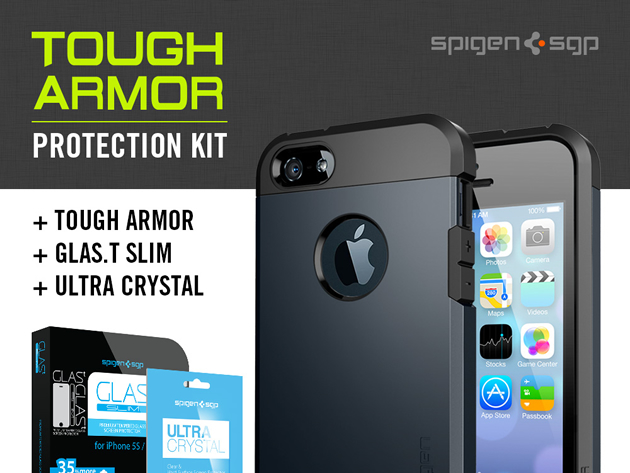 spigen3 Protect your iPhone 5 or 5s with the Spigen Tough Amor Case bundle: 50% off – come and get it!