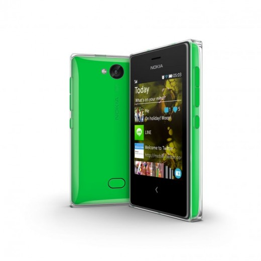 700 nokia asha 503 green 520x520 Nokia announces Asha 500 for $69, Asha 502 for $89, and Asha 503 for $99