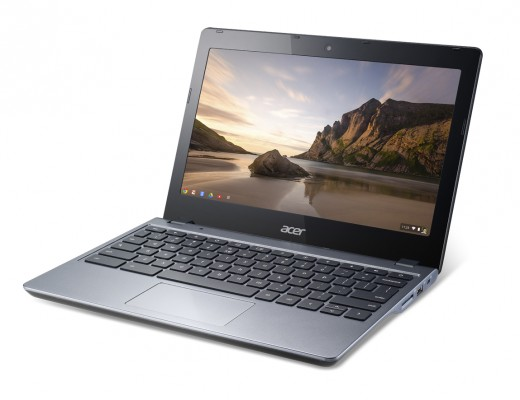 Acer Chromebook previewed at IDF forward angle 520x400 Acer launches $249 Haswell powered 11.6 inch C720 Chromebook with 8.5 hour battery life and 16GB SSD
