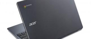 Acer Chromebook previewed at IDF rear view