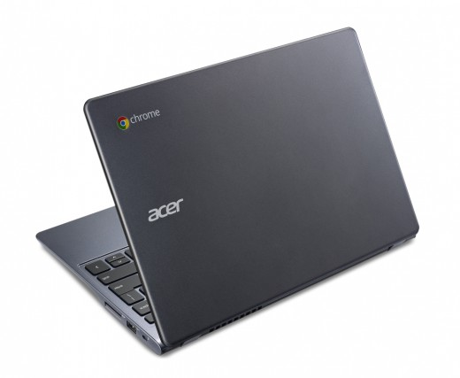 Acer Chromebook previewed at IDF rear view 520x427 Acer launches $249 Haswell powered 11.6 inch C720 Chromebook with 8.5 hour battery life and 16GB SSD