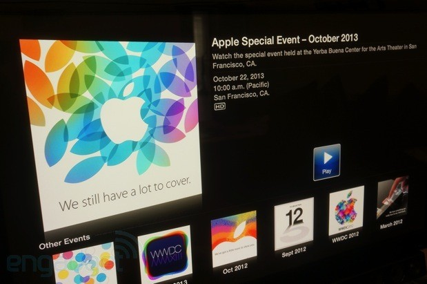 Apple TV stream Apple will be livestreaming its event today to users of its own devices