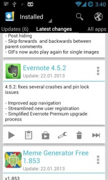 Changelog Droid 220x366 The 40 Must Have Android Apps for the Power User