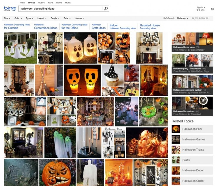 Halloween 647E95D9 1 730x632 Microsoft adds Pinterest boards to Bing Image Search as part of broader image collections feature