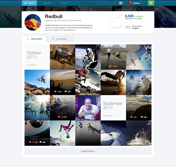 Instagram Business 1 This design concept shows how useful a dedicated Instagram Web app for businesses would be
