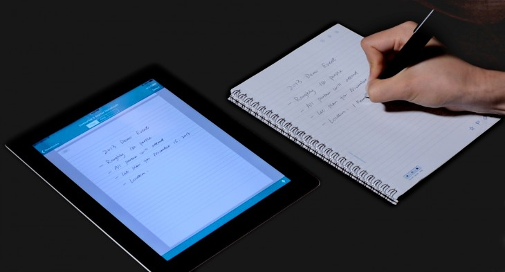 Livescribe 3 notebook and iPad scene 730x393 Livescribes new smartpen takes your handwritten notes directly to your iPhone and iPad